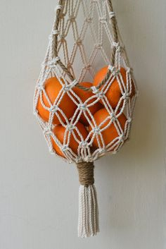 Macrame Design, Macrame Art, Macrame Projects, Fruit Storage, Vegetable Storage, Storage Basket, Paper Storage, Hanging Storage, Diy Vegetable Bags