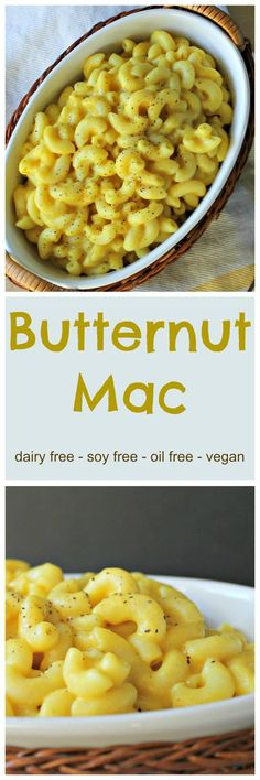 Butternut Mac - dairy free mac and cheese made with all whole food ingredients. No soy, no nutritional yeast and no fake cheese! You will not believe this is dairy free!! #vegan #macandcheese #dairyfree #oilfree #wholefoods #wfpb #cleaneating #butternutsquash