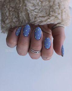30 ideas which nail polish to choose - My Nails Gold Acrylic Nails, Rose Gold Nails, Blue Nails, Red Nail, Minimalist Nails, Hair And Nails, My Nails, Polka Dot Nails, Dream Nails