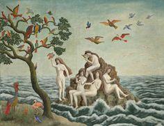 André Bauchant, Sirens charming birds, 1943