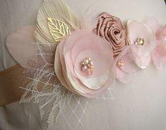 Rose Gold Wedding Sash Blush Wedding Sash Floral Wedding