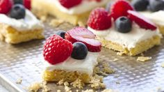 Looking for a delicious dessert using Betty Crocker® SuperMoist® cake mix? Then check out these delicious bars topped with frosting and fresh berries.