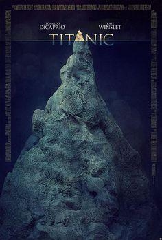 Titanic movie poster by Tomasz Opasinski Titanic Movie Poster, Best Movie Posters, Minimal Movie Posters, Minimal Poster, Cinema Posters, Movie Poster Art, Poster S, Awesome Posters, Epic Movie