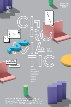 Identity and Campaign visuals for Chromatic Festival's 5th edition by Vallée Duhamel and Olivier Charland