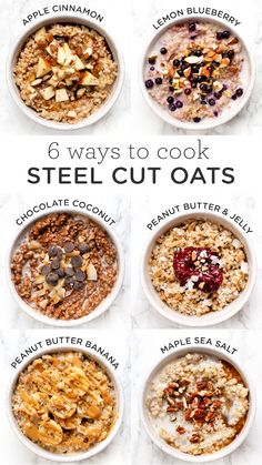 How to cook steel cut oats in the instant pot - with 6 different healthy, delicious recipes! You'll LOVE how quick it is to make these vegan recipes for breakfast! recipe breakfast 6 Amazing Ways to Cook Steel Cut Oats in the Instant Pot - Simply Quinoa Breakfast Bowls, Healthy Breakfast Recipes, Healthy Snacks, Oats For Breakfast, Oatmeal Breakfast Recipes, Instant Oatmeal Recipes, Best Oatmeal Recipe, Healthiest Breakfast, Healthy Oatmeal Recipes