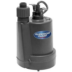 Superior Pump 1/5 HP Thermoplastic Submersible Utility Pump, 91025 - The Superior Pump 1/5 hp submersible thermoplastic utility pump offers exceptional power in a small, durable frame. Able to pump 26 gal. a minute up to 25 ft. of vertical height, this fully submersible pump can easily fit inside a 6 in. Opening. Designed to drain standing water from any environme...