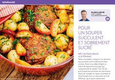 Pour un souper succulent etsobrement sucré - La Presse+ Le Diner, Lorraine, Main Dishes, Dinners, Good Food, Menu, Potatoes, Vegetables, Healthy