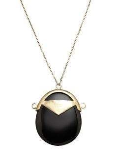 LOW LUV Oval Pendant Toggle Necklace