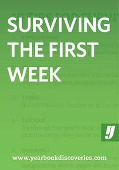 Yearbook Staff Tips: 15 Tips for Surviving the First Week of Yearbook Teaching Yearbook, Yearbook Class, Yearbook Pages, Yearbook Spreads, Yearbook Covers, Yearbook Layouts, Yearbook Design, High School Yearbook, Yearbook Theme