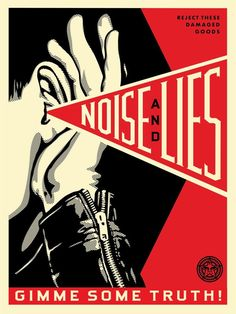 Shepard Fairey Noise and Lies RED Screen Print Poster Limited Obey Cream Black Protest Kunst, Protest Art, Political Posters, Political Art, Screen Print Poster, Poster Prints, Obey Prints, Art Obey, Obey Wallpaper