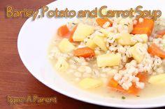 Barley, Potato and Carrot Soup recipe via http://typeaparent.com