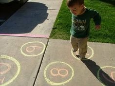 Fun With Sidewalk Chalk - lots of great ideas