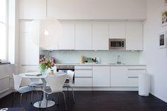 white one wall kitchen.