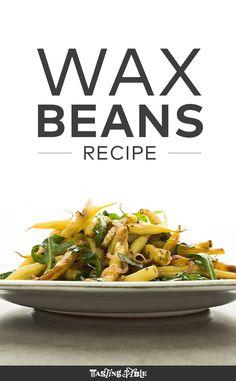 Seared Yellow Wax Beans and Arugula Recipe