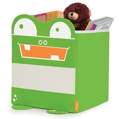 The P'kolino Store P'Kolino Mess Eaters Shelf Storage Bins, Green