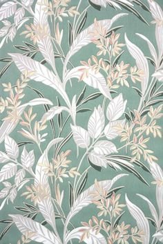 leafy botanical vintage wallpaper from the 1930s. Antique wallpaper from Hannah's Treasures vintage wallpaper collection. Collecting old stock authentic 30s 40s 50s 60s wallpaper for 25 years