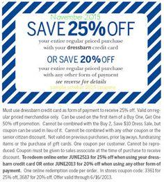 Free Printable Coupons: Dress Barn Coupons