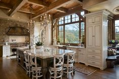 """""""View this Great Country Kitchen with Simple granite counters & L-shaped by Locati Architects. Discover & browse thousands of other home design ideas on Zillow Digs. Country Kitchen Designs, Rustic Kitchen Design, Luxury Kitchen Design, Best Kitchen Designs, Shabby Chic Kitchen, Luxury Kitchens, Cool Kitchens, Country Kitchens, Kitchen Ideas"""
