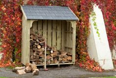 Dorset Log Stores - UK designed and built, high quality Garden Stores, Wheelie Bin Stores, Bird Tables & Garden Tool Storage. Plus Log Baskets, Bird Boxes & Welly Boot Stands. Backyard Projects, Outdoor Projects, Garden Projects, Firewood Shed, Firewood Storage, Log Shed, Wood Storage Sheds, Log Store, Side Garden