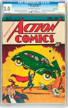 The most important comic book EVER published - Action Comics #1 Billy Wright pedigree (DC, 1938) CGC GD/VG 3.0 Off-white to white pages SOLD FOR: $298,750.00