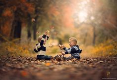 Autumn Twins by Jake Olson - Children Photography by Jake Olson  <3 <3
