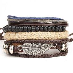 Ya Big Champ - 4PCS Set leather bracelet