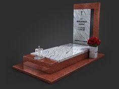 Projekty nagrobków - Kamieniarstwo NeRo - katalog wizualizacji Bath Caddy, Altar, Funeral, Granite, 2d, Black Granite, Cooking, Projects, Granite Counters