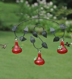 Bird feeders and squirrel feeders bring wildlife to your yard. Find hummingbird feeders, squirrel-proof feeders, oriole feeders and squirrels corn feeders. Hummingbird Nectar, Hummingbird Garden, Bird House Feeder, Coloured Feathers, Small Ponds, Humming Bird Feeders, Little Birds, Small Gardens, Leaf Design