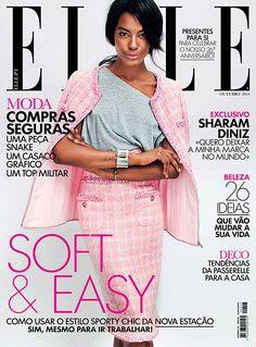 Sharam Diniz - Elle Magazine Cover [Portugal] (October 2014)