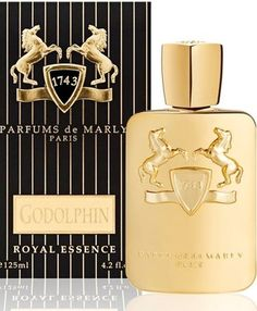Godolphin Parfums de Marly cologne - a new fragrance for men 2012. Top notes: thyme, saffron, cypress, green notes, fruity notes and mate. Heart: rose, iris and jasmine. Base: leather, vetiver, cedar, musk, amber and vanilla.