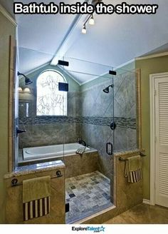 Bathtub in the shower