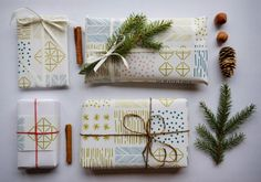 "New wrapping paper ""Himmeli"". Design by Kristiina Haapalainen & Sami Vähä-Aho 2013."