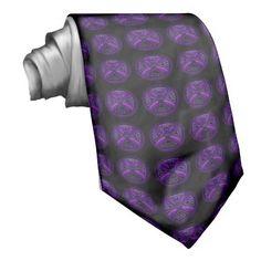 Black and Purple Celtic Cross Tie