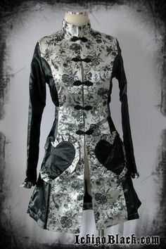 Silver Elegant Qi lolita jacket. For those of you who don't know, qi lolita is based off the traditional Chinese dress.