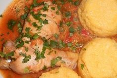 Ostropel de pui cu tomate si usturoi Potato Salad, Potatoes, Favorite Recipes, Meat, Chicken, Vegetables, Ethnic Recipes, Food, Potato