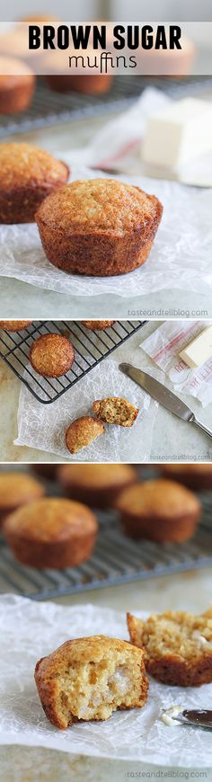 Made from pantry staples, these Brown Sugar Muffins have been a favorite for as long as I can remember!: