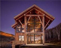 casas de madeira moderna