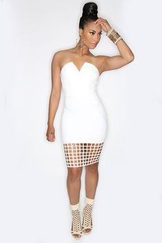 White Matrix Dress