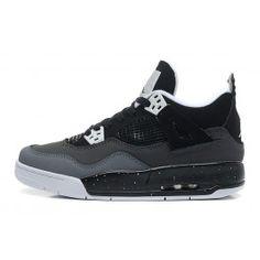 buy online 42c82 34fcf Nike Air Jordan 4 Herresko Sort Grå
