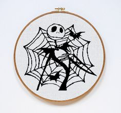 Jack Skellington cross stitch pattern Instant Download cute