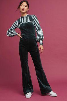 Slide View: 1: Julianne Velvet Jumpsuit