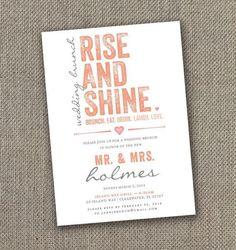 Fabulous Breakfast and Brunch Wedding Ideas for the Early Birds - wedding invitation idea via easy
