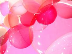 Pink & red balloons