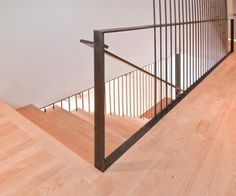 New Contemporary Stair Railing On Interior With Modern Stairs Rail By BUILD LLC For a fresh change try Home decoration ideas Modern Staircase Railing, Cantilever Stairs, Wood Handrail, Stair Railing Design, Modern Stairs, Staircases, Steel Railing, Banisters, Stairs Architecture