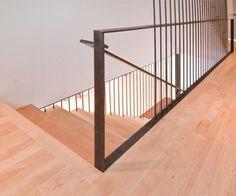 Modern Stairs + Rail by BUILD LLC