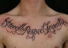Lettering and phrase tattoos are tattoo designs that are typographical.  Lettering tattoo designs are very interesting because they are, by nature, designed to be read.