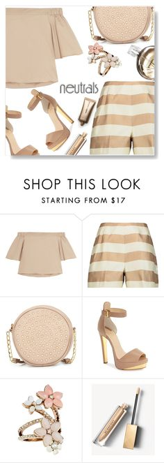 """""""Neutrals"""" by simona-altobelli ❤ liked on Polyvore featuring TIBI, Neiman Marcus, Christian Louboutin, Chanel, Accessorize, Burberry, Nude by Nature, monochrome, neutrals and polyvorecontest"""