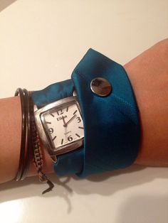 Unique Turquoise Necktie Wristwatch--I think this is awesome; love that it's upcycled