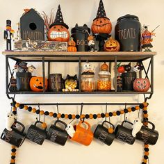 "@raedunngotme on Instagram: ""🎃🎃🎃 #raedunn #raedunnhalloween #raedunnhalloweendisplay #halloween #halloweendecor #raedunnclay #raedunnpottery #raedunnmagenta…"" Halloween Kitchen, Halloween Home Decor, Diy Halloween Decorations, Halloween House, Fall Home Decor, Autumn Home, Farmhouse Halloween, Halloween Themes, Days Until Halloween"