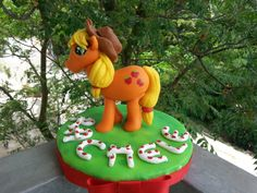Cake topper Apple jack di My little pony